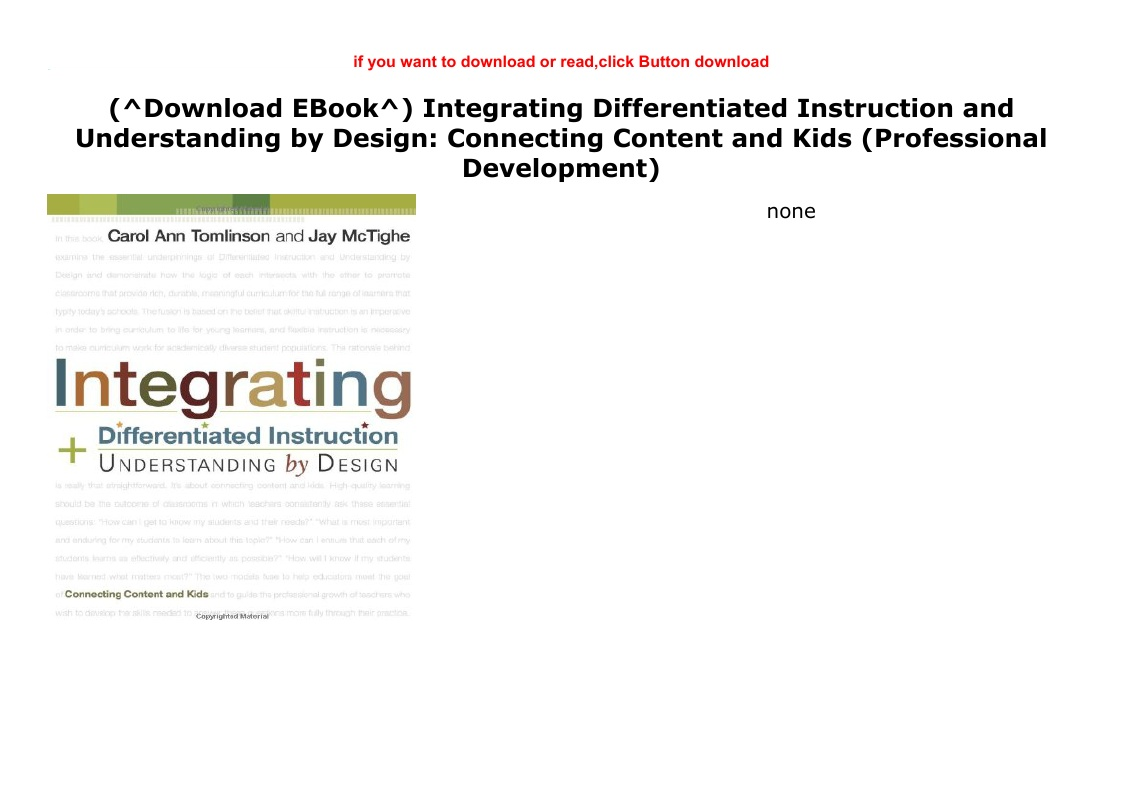 Download Ebook Integrating Differentiated Instruction And Understanding By Dowbload Ebook Kindle Pdf Glogster Edu Interactive Multimedia Posters